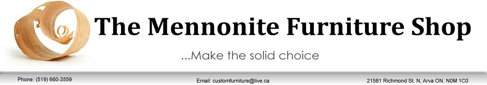 Mennonite furniture shop logo